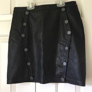 The Kooples Lambskin leather skirt XS